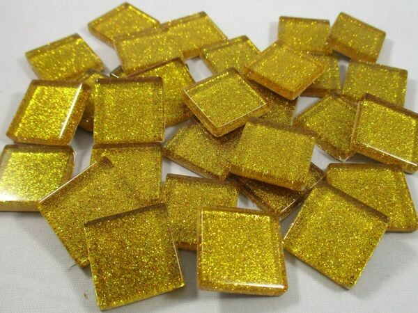 Golden Yellow Glitter Tiles