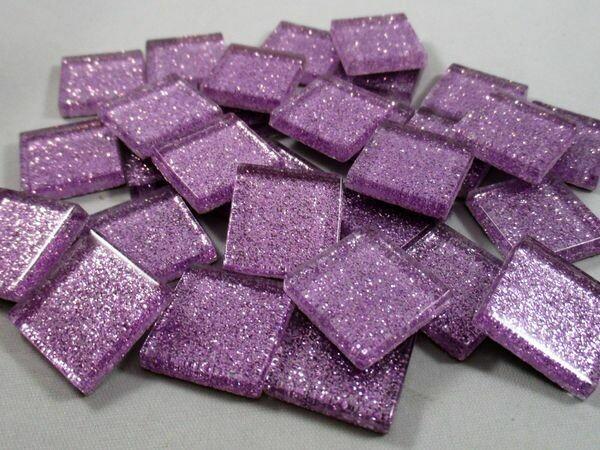 Lavender Glitter Tiles