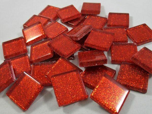 Red Glitter Tiles