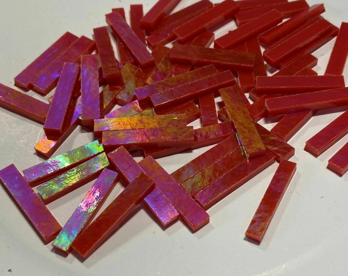 Iridescent Tomato Red Skinnies