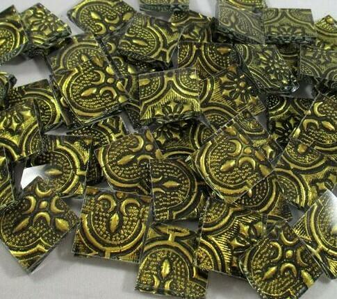 Gold Flora Tiles