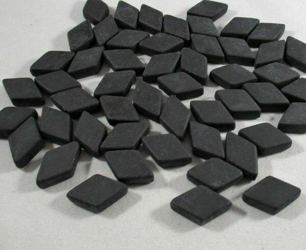 Charcoal Diamond Tiles - Molded Glass