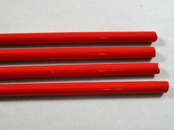 Red Orange Glass Rods