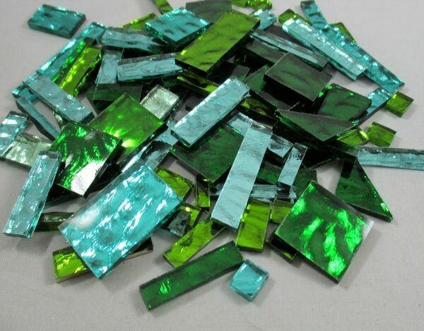 Green Mirror Mix Offcuts 1/2 Lb