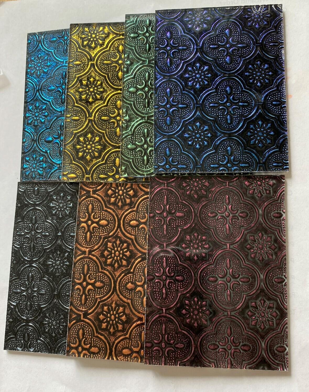 """Flora Glass Sampler   4"""" x 3"""" Pieces"""