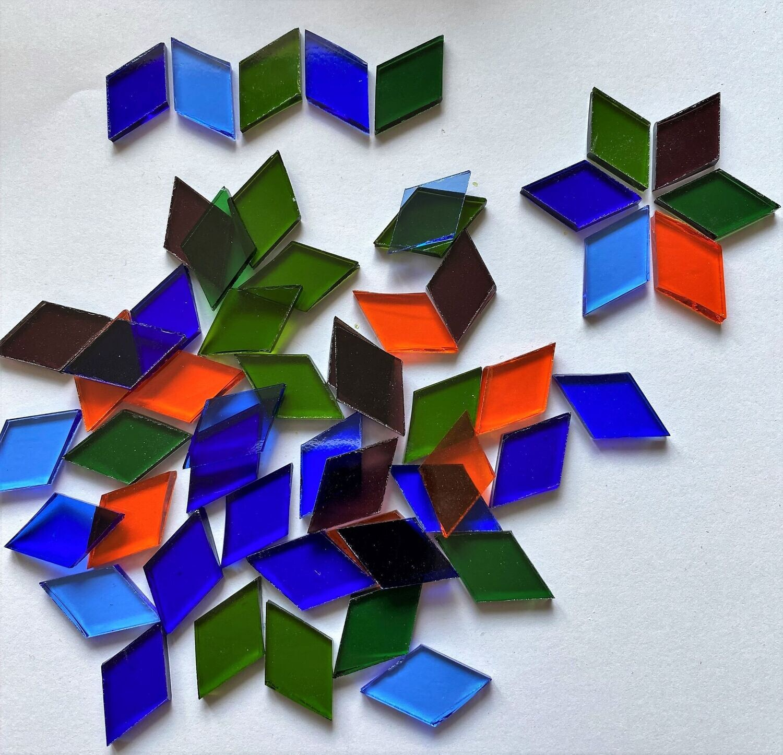 50 Transparent Glass Diamonds