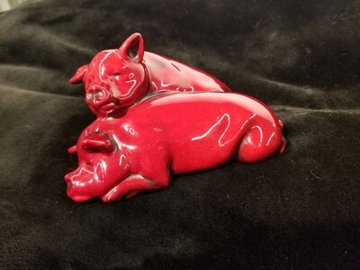 Pigs-Royal Doulton Flambé