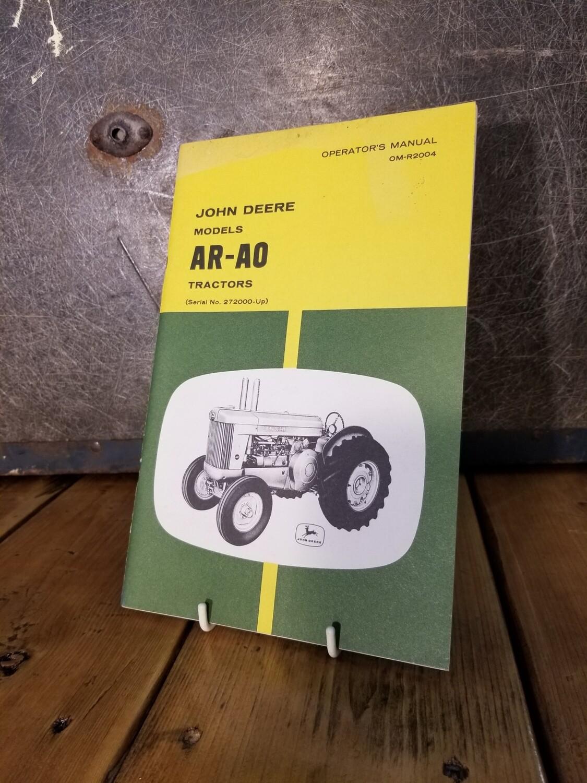 John Deere Manual - AR-A0