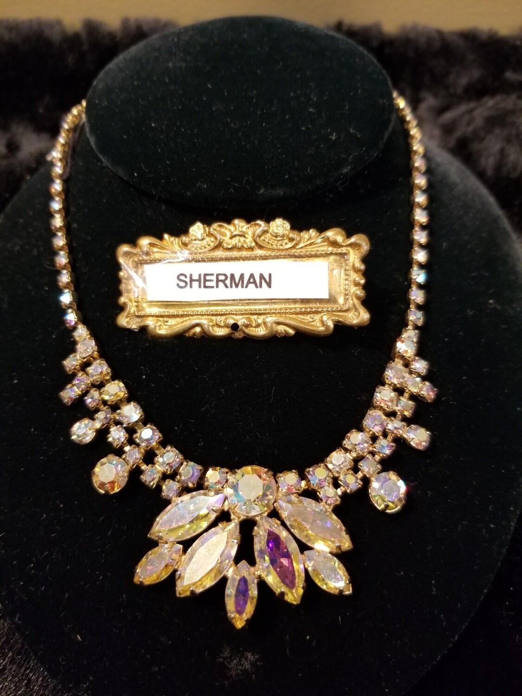 Sherman Aurora Borealis Necklace - Unsigned