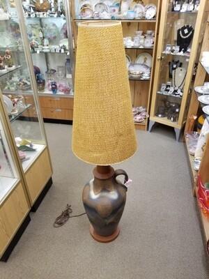 West German Pottery Floor Lamp