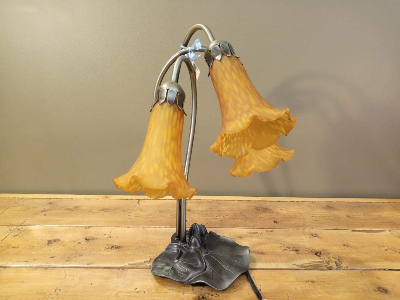 Amber Art Glass Lamp