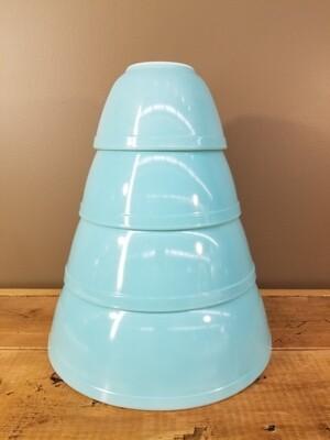 Pyrex Bowls- 4pc Aqua