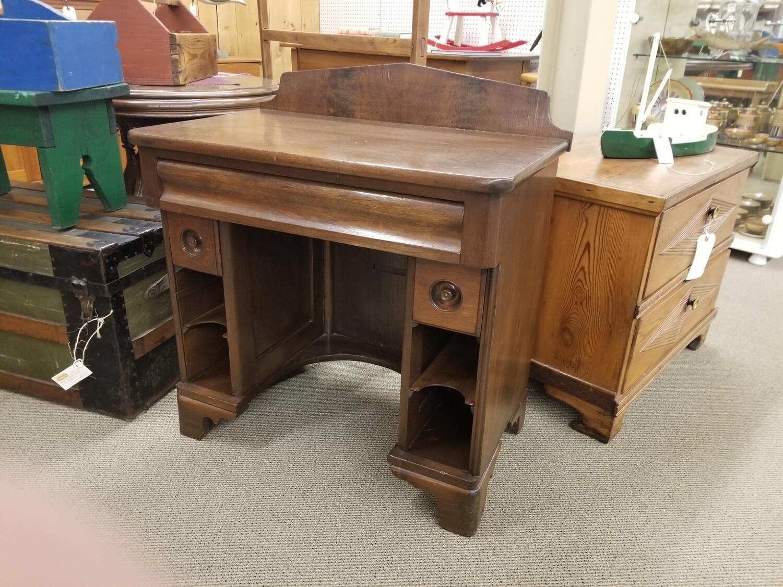 Walnut Kneehole Desk- Victorian