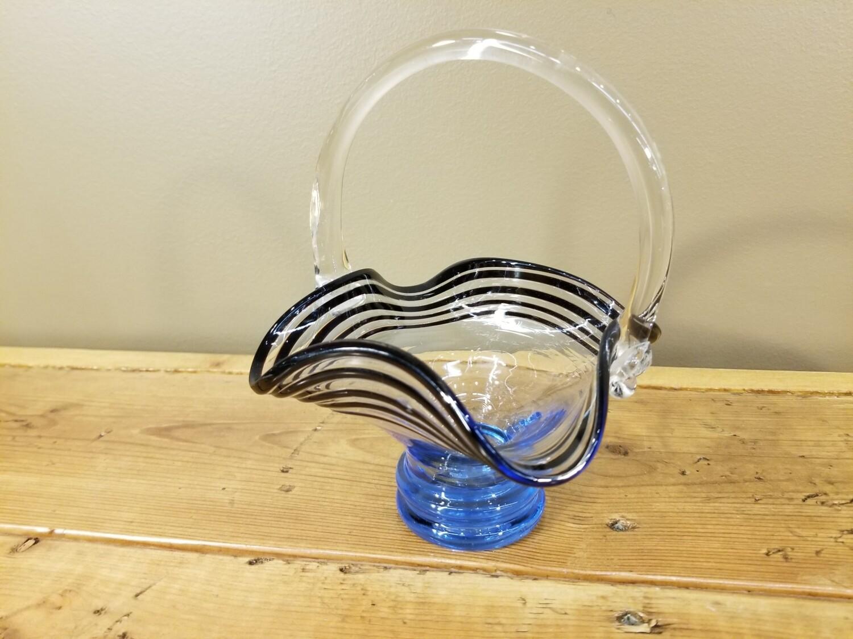 Blown Glass Basket
