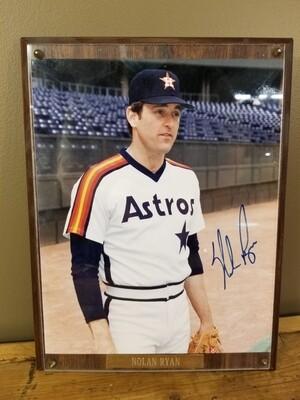Autographed Baseball Picture- Nolan Ryan