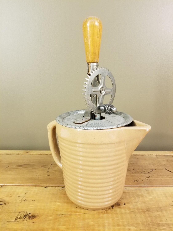 Yellowware Jug With Mixer