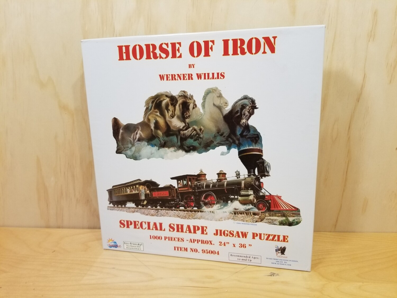 Horse Of Iron- Shaped Puzzle