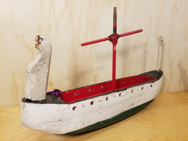 Primitive Folk Art Longboat