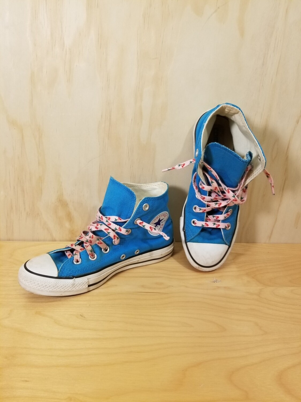 Blue Converse All Stars