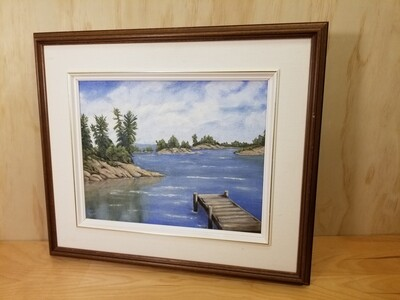 """Cottage Painting-""""Lost bay""""- Jane Stock"""