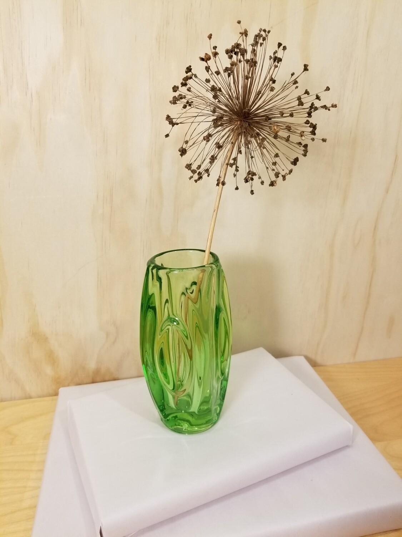 Sklo Union Lens Vase- Green