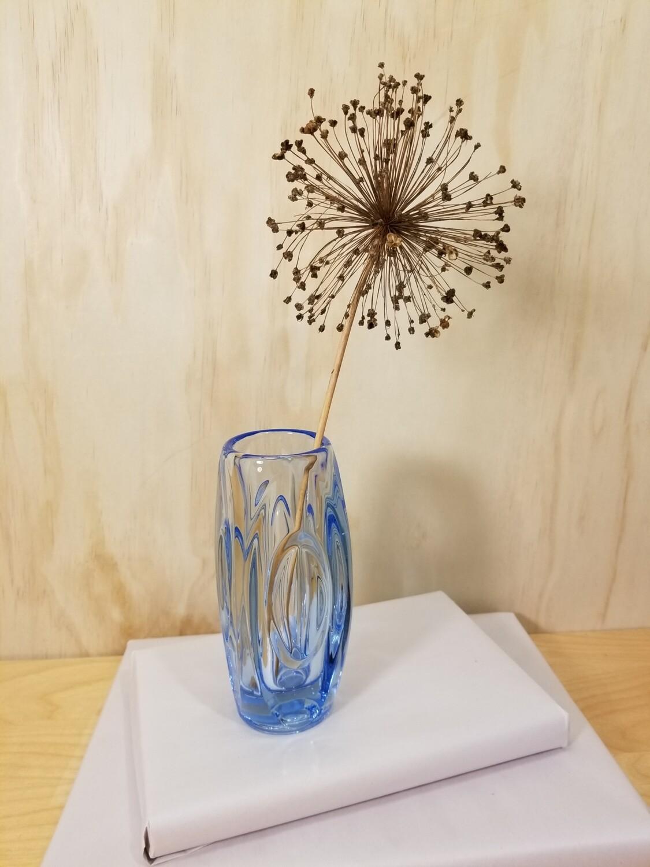Sklo Union Lens Vase- Blue