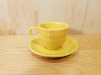 Fiesta Teacup and Saucer- Sunflower