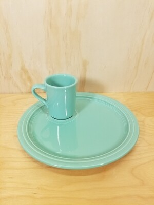 Fiesta Snack Plate and Mug- Seamist