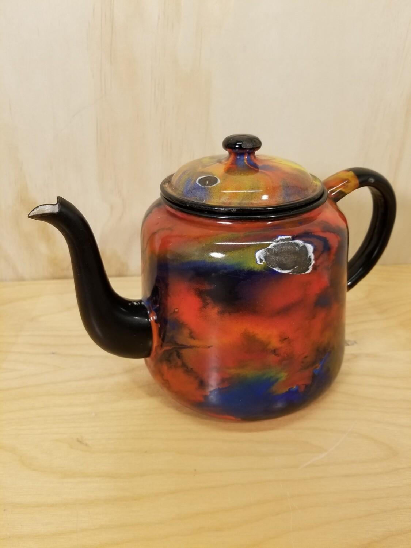 Enamel Teapot- Rare Color