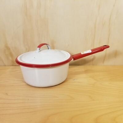 Enamelware Pot with Lid