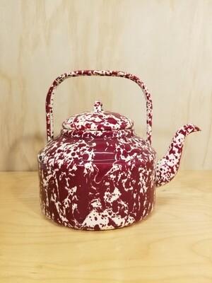 Splatterware Kettle - Red