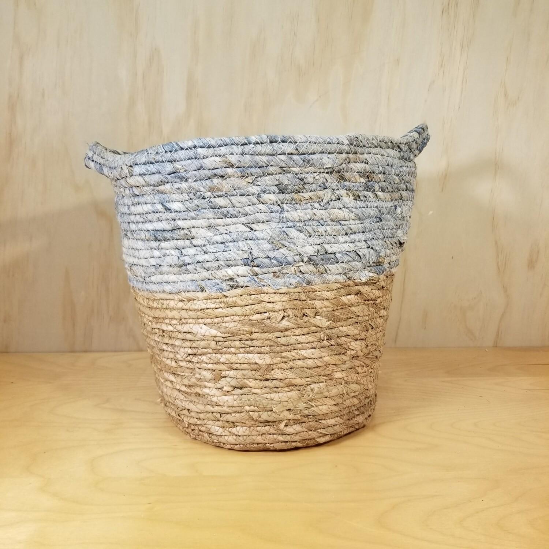 Blue/ Tan Storage Basket