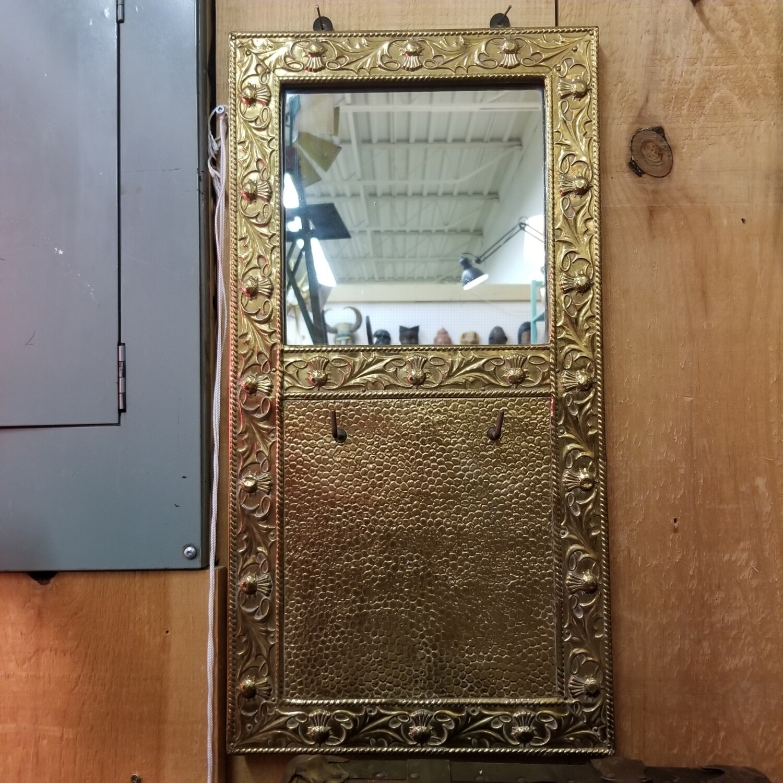 Art Noveau Brass Mirror