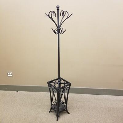 Wrought Iron Coat Rack/Umbrella Stand