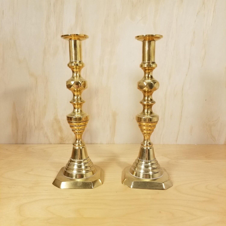 Brass Push Up Candle Stick Set