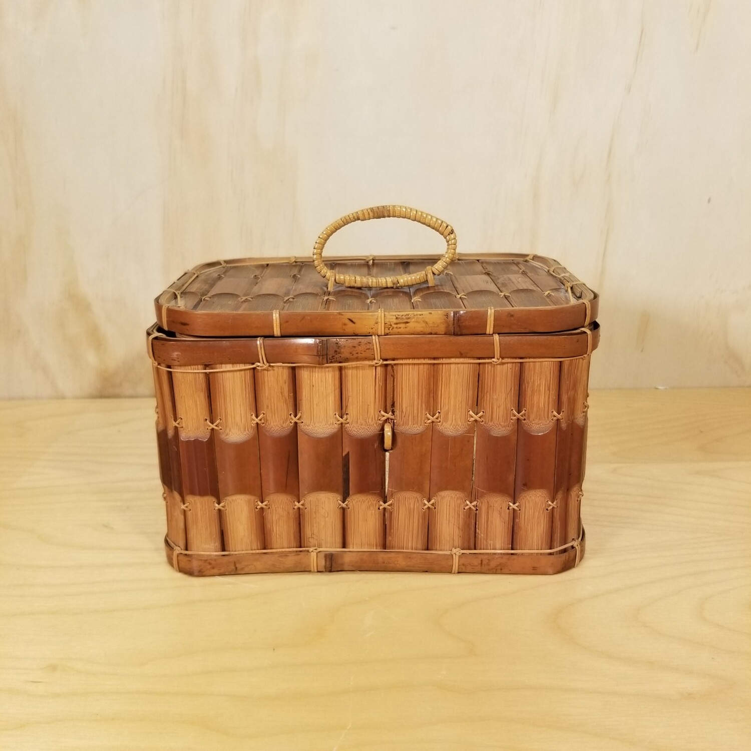 Reed Basket with Lid