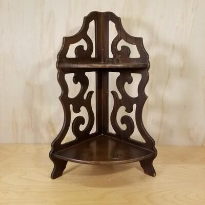 Corner Wood Shelf