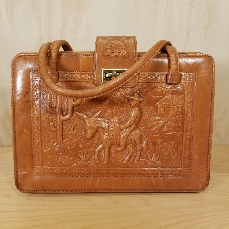 Hand Joveled Leather Handbag