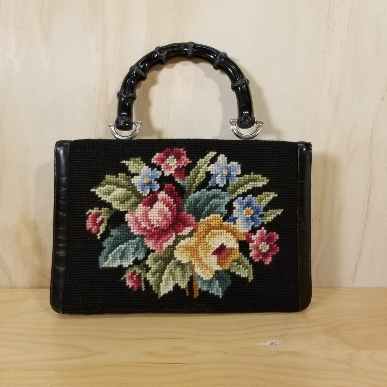 Vintage Needlepoint Bag