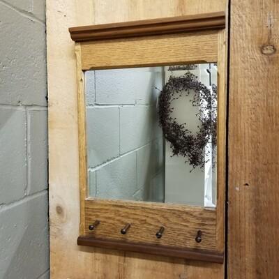 Bevilled Oak Mirror