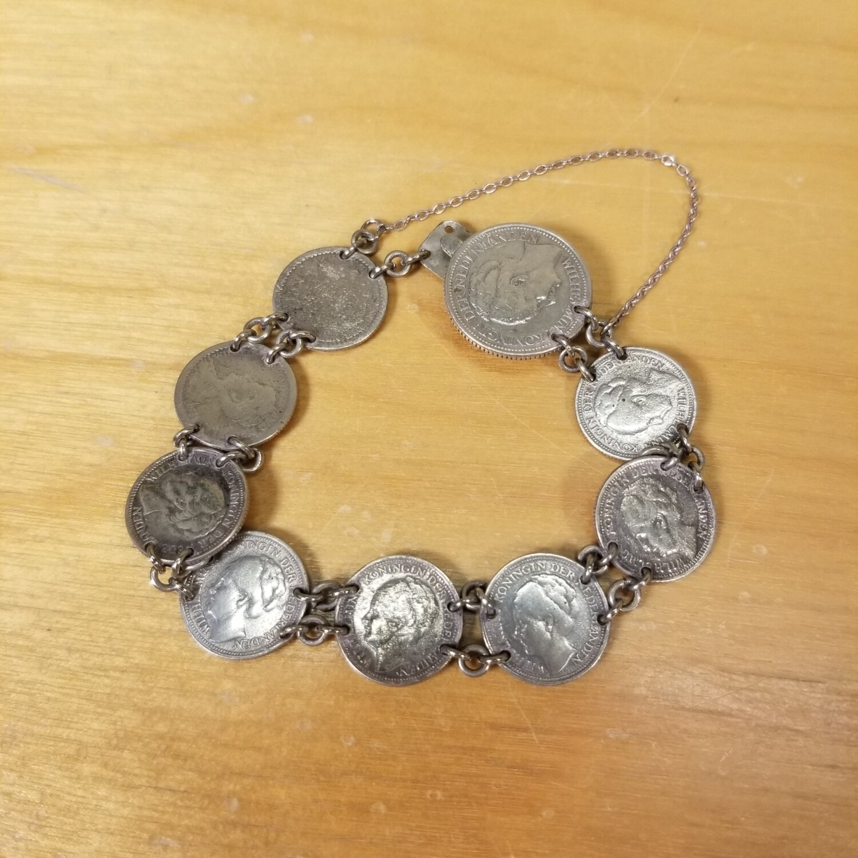 Dutch Silver Coin Bracelet
