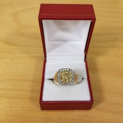 Diamond + Gold Man's Ring