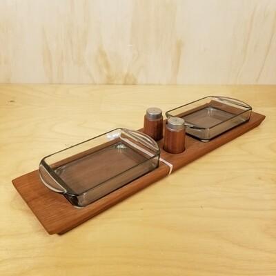 5 Piece Teak Tray Set