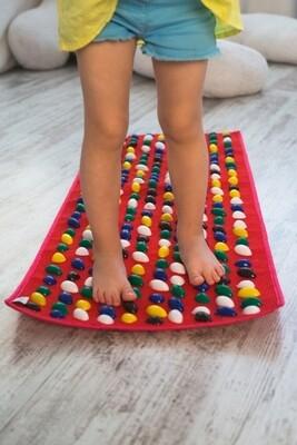 Massaažimatt jalgadele IGORA FOOT MAT 100 х 40 сm, punane, MS-1215-2