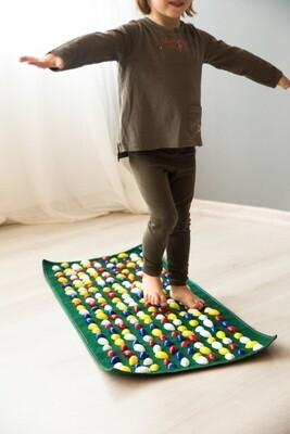 Massaažimatt jalgadele IGORA FOOT MAT 100 х 40 сm, roheline, MS-1215-1