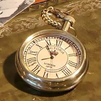 Fair Trade Pocket Watch with Chain