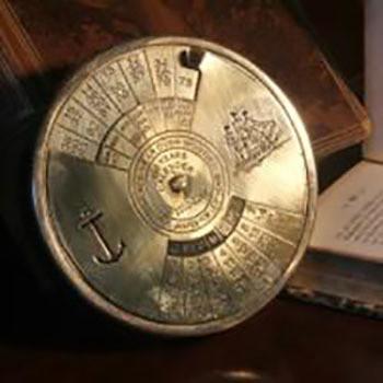 Fair Trade Brass 100 Year Calendar