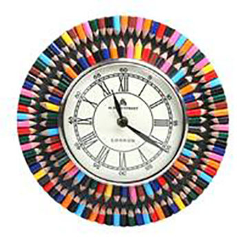 Fair Trade Recycled Crayon Wall Clock