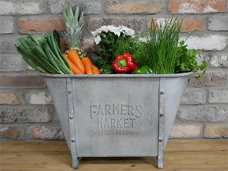 Farmers Market Planter Display Tub
