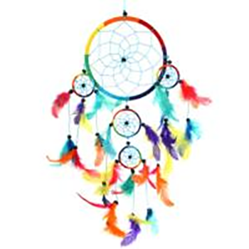 Fair Trade Multi Coloured Dreamcatcher